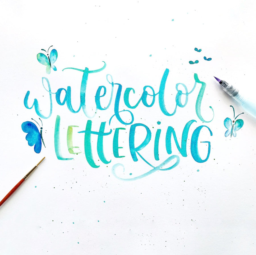 Introduction to Watercolor Hand Lettering