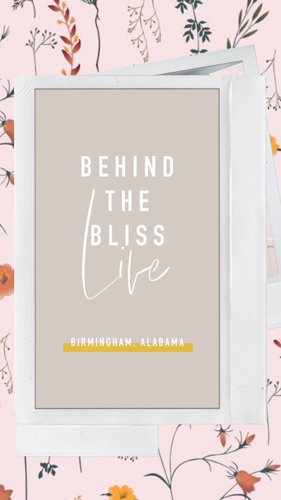 BEHIND THE BLISS LIVE!