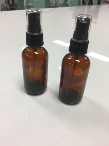 Amber Spray Bottle - 4 Ounce