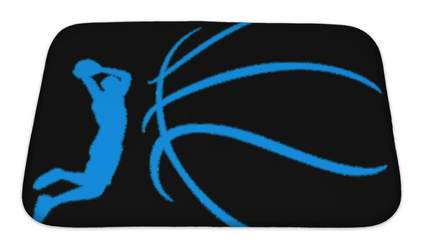Bath Mat, Basketball Design