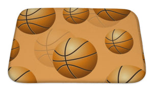 Bath Mat, Basketball Pattern