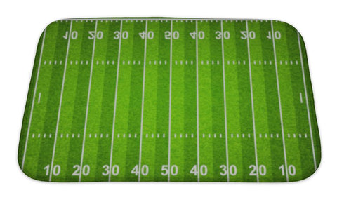 Bath Mat, Football Pattern American Football Field