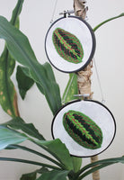 Hanging Hoop Prayer Plant Leaf Embroidery (2 Sizes)