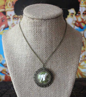 Glass Terrarium Necklace with Real Deer Tooth and Moss
