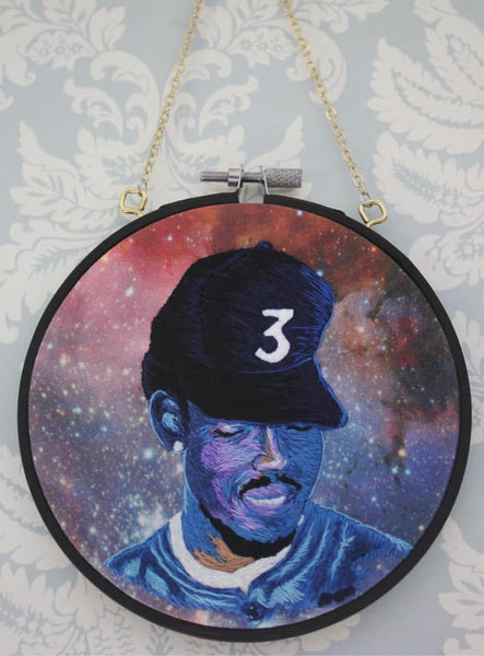 Hanging Chance the Rapper Coloring Book Embroidery