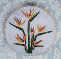 Birds of Paradise Framed Embroidery