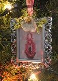 Mini Vulva or Penis Cross Stitch Holiday Ornaments