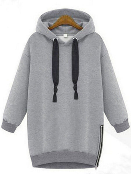 Autumn Winter Loose Pullover Mid-length Sweatshirt