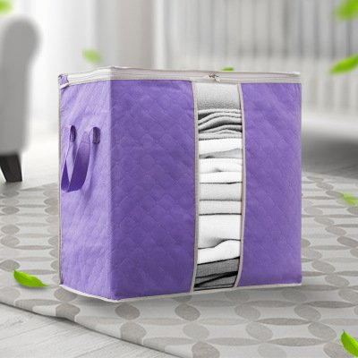 Portable Clothing Quilts Storage Bags Organizer Bags with Transparent Window