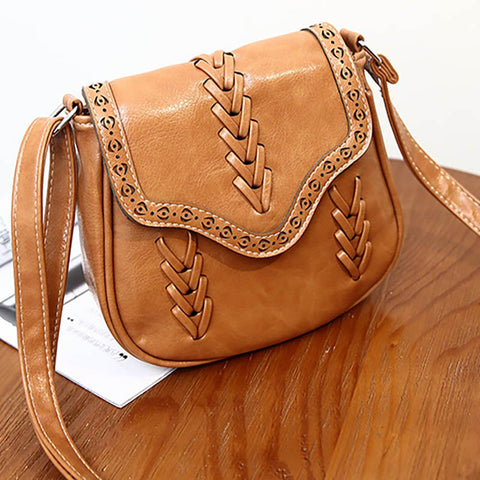 Women Vintage Casual Magnetic PU Cross-body Bag