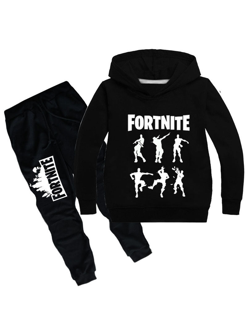 Fortnite Graphic Hoodie Casual Two Piece Sets