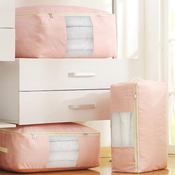 Portable Clothing Quilts Storage Bags Organizer Bags Solid Color