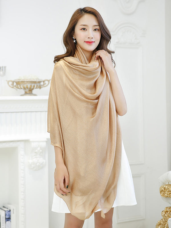 Casual Sun Proof Linen Solid Scarf