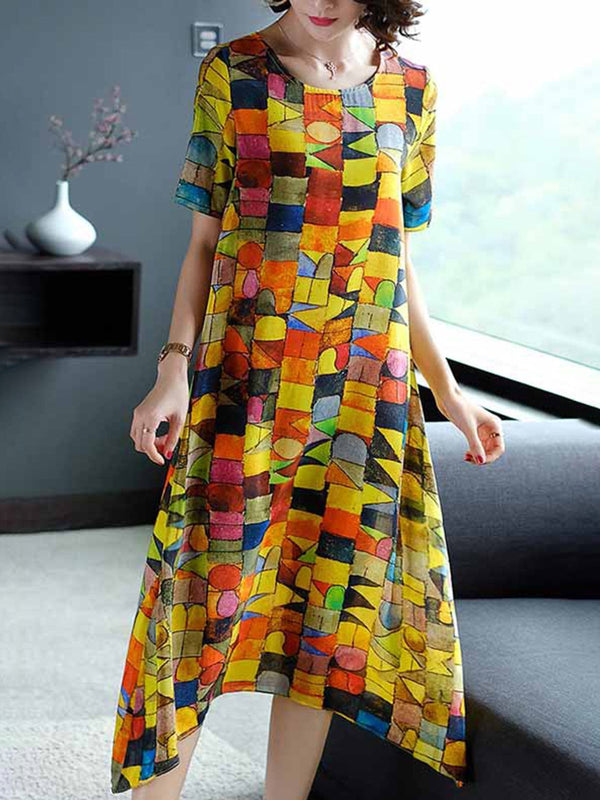 As Picture Women Dresses Shift Daily Printed Dresses