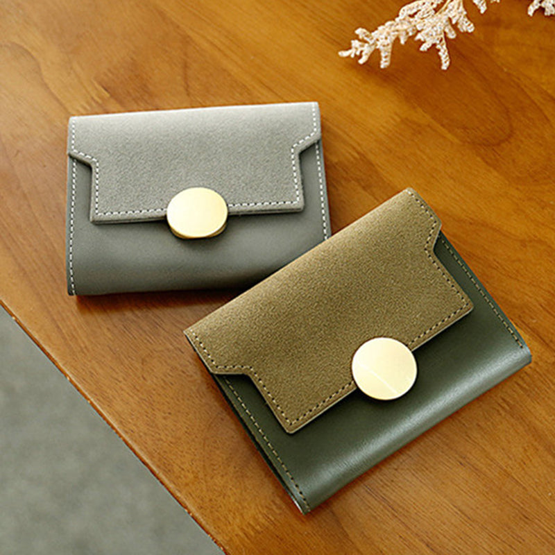 Small Wallet Soft Coin Purse 5 Card Slot Multi-function Wallet