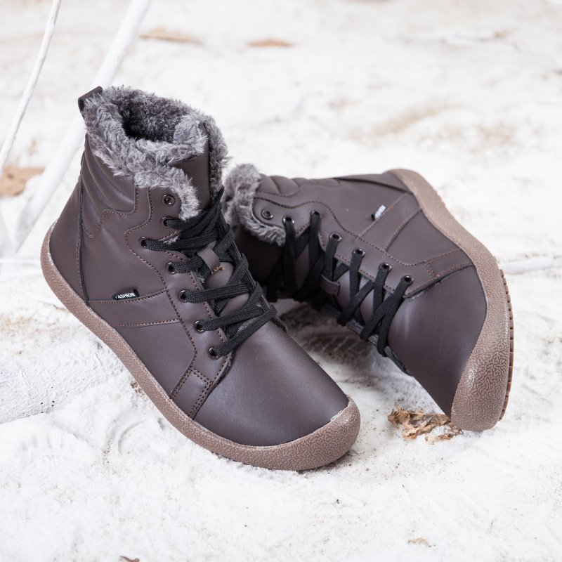 New Cotton Warm Large Size Comfortable Anti-skid Shoes Couple Snow Boots