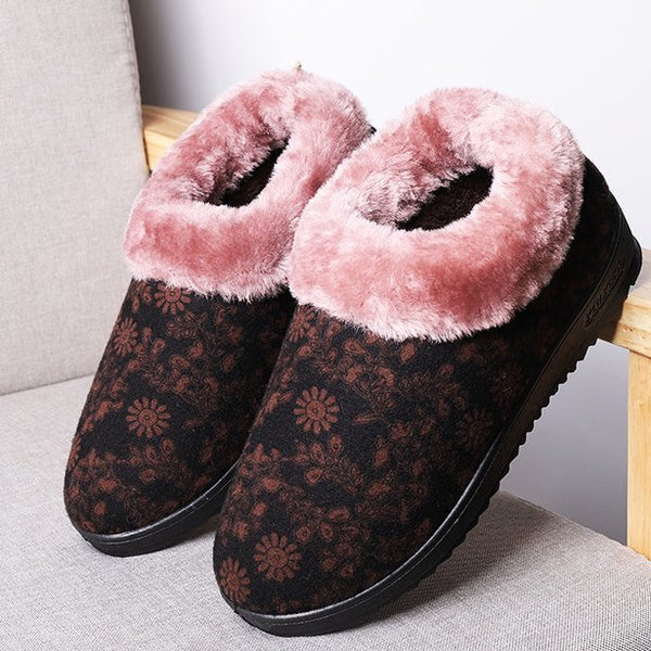 Winter Flat Heel Artificial Suede Snow Boots