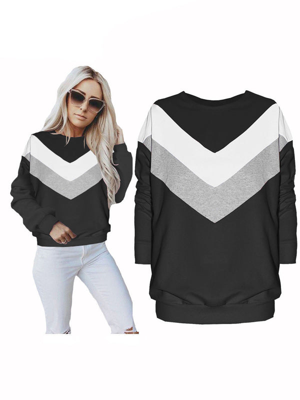 Shift Long Sleeve Color-Block Sweatershirt