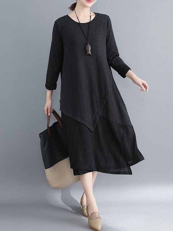 Crew Neck Casual Casual Shift Dress
