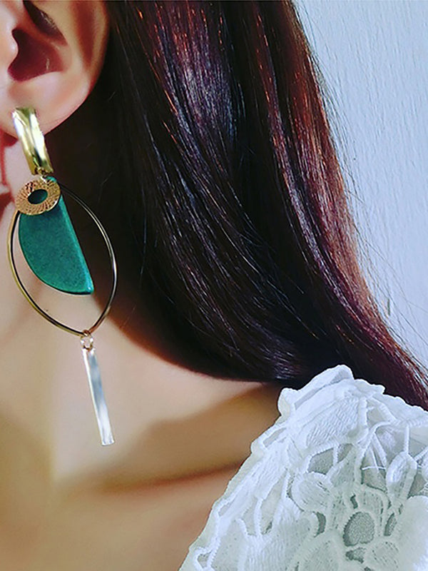 Women's Fashion Korean Temperament Wood Ear Earrings