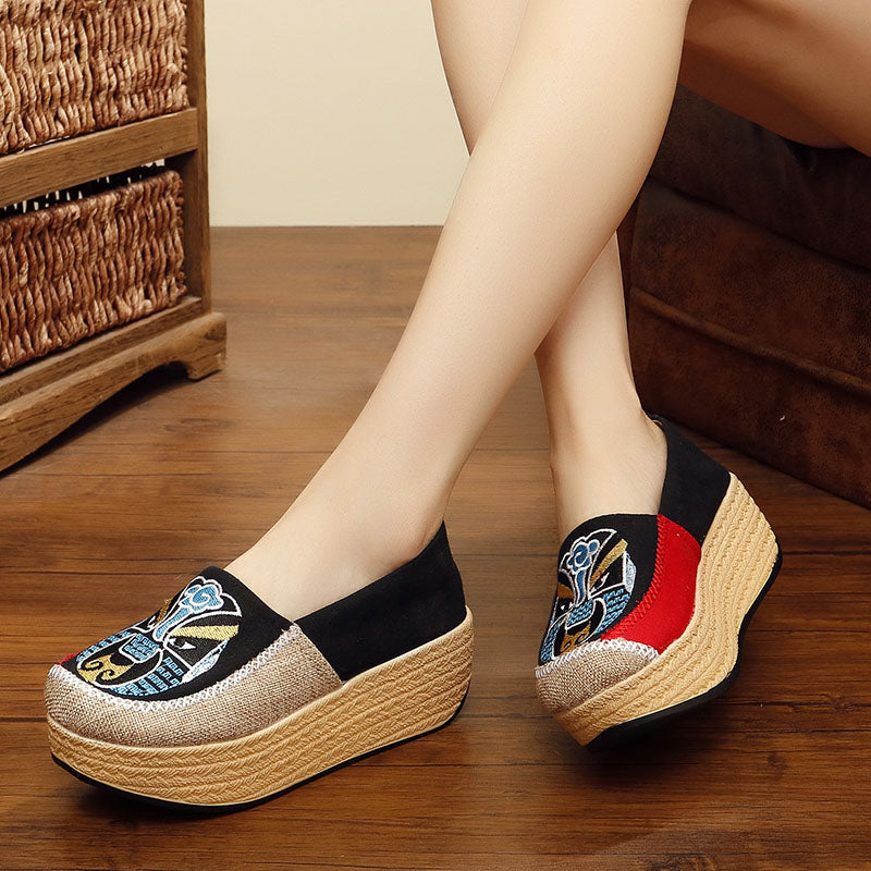 Split Joint Fabric Casual Platform Shoes