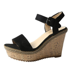 Adjustable Buckle Casual Wedge Heel Sandals