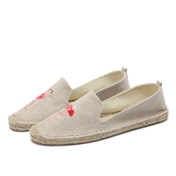 Canvas All Season Casual Embroidery Loafers