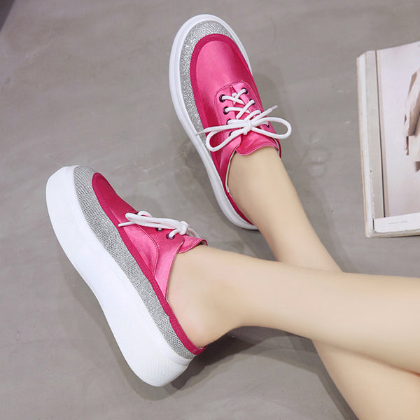Women PU Platform Slippers Casual Comfort Shoes