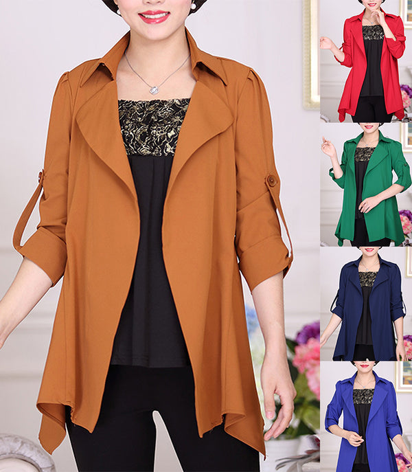 Solid Casual Buttoned Jacket