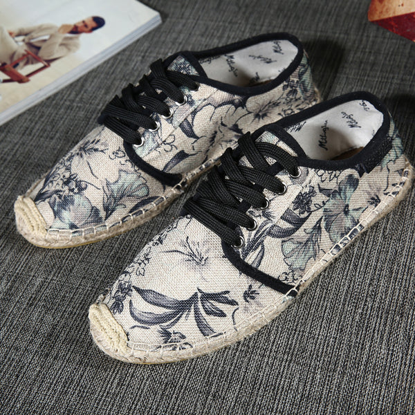 Plus Size Canvas Slip-On Comfy Lace-up Sneakers
