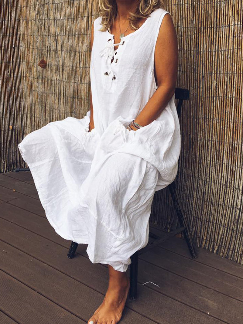 Plus Size Women Vintage Holiday Maxi Dresses