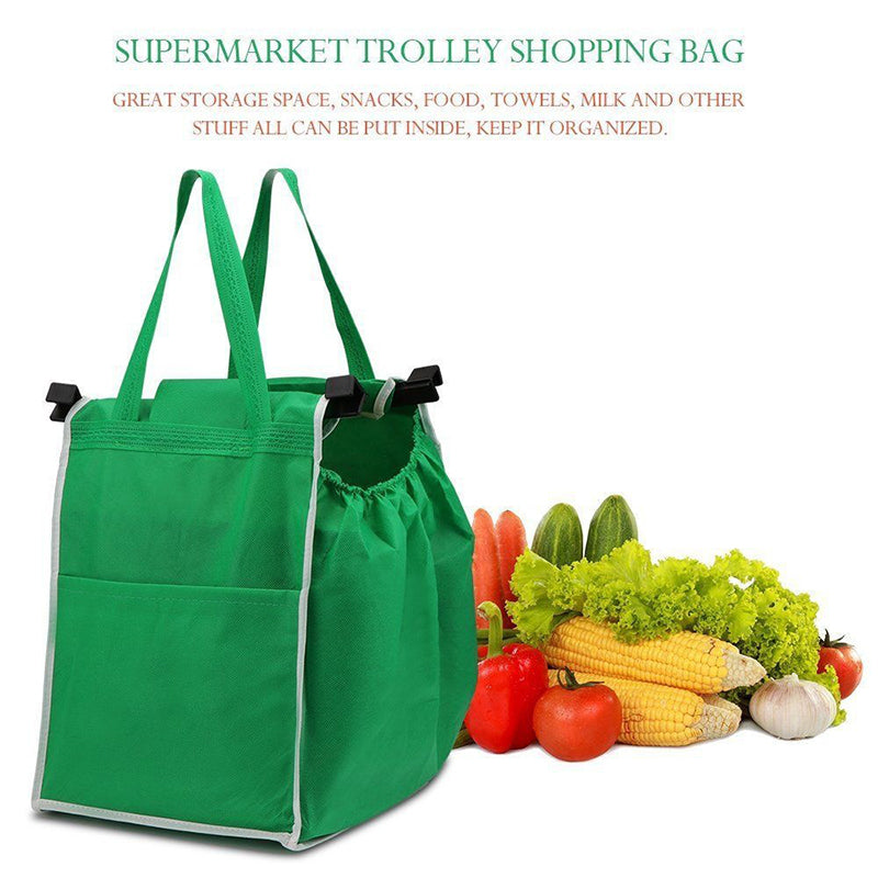 Foldable Tote Bag Grocery Grab Fabric Shopping Carrier Bag