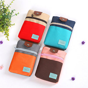 Womens Canvas Buckle Travel Passport Phone Bags