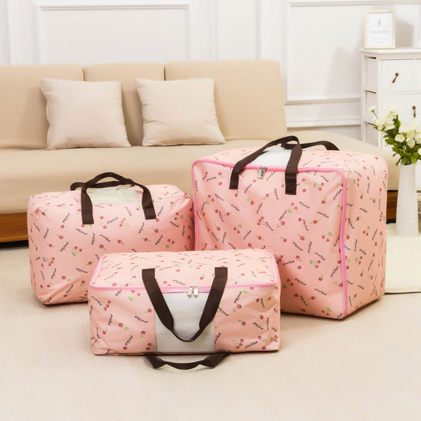 Waterproof Moisture-proof Four Sizes Zipper Cotton Storage Bags