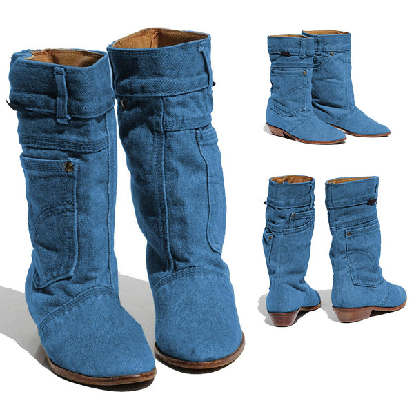 Women Denim Casual Plus Size Shoes