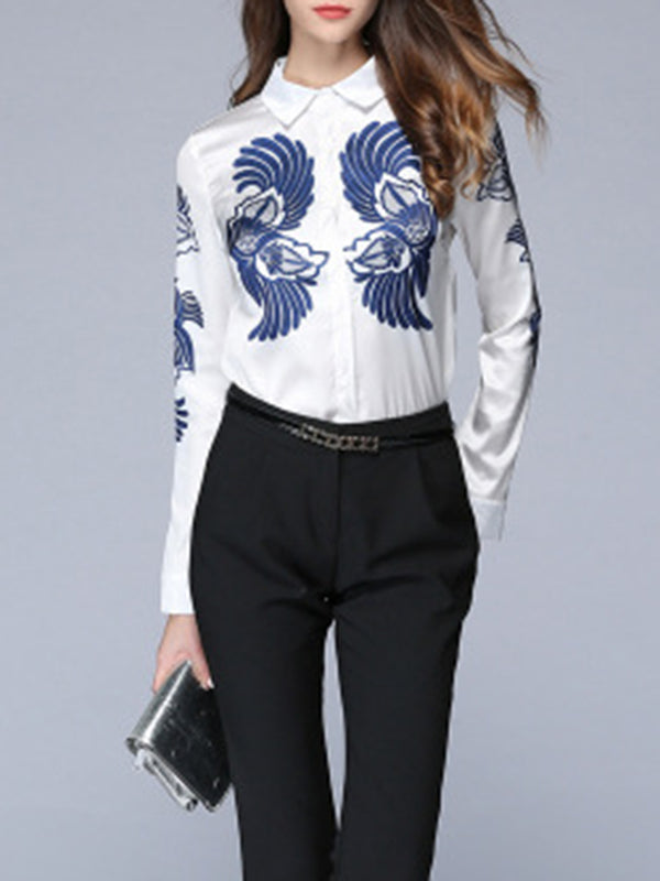 Casual Buttoned Abstract Printed Shirt