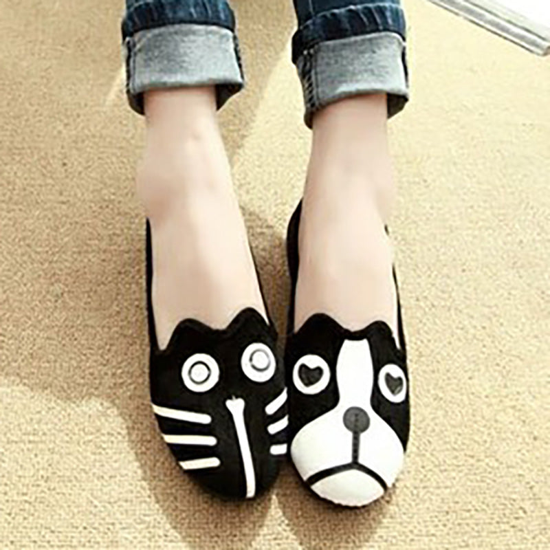Women Flocking Loafers Casual Comfort Cute Shoes