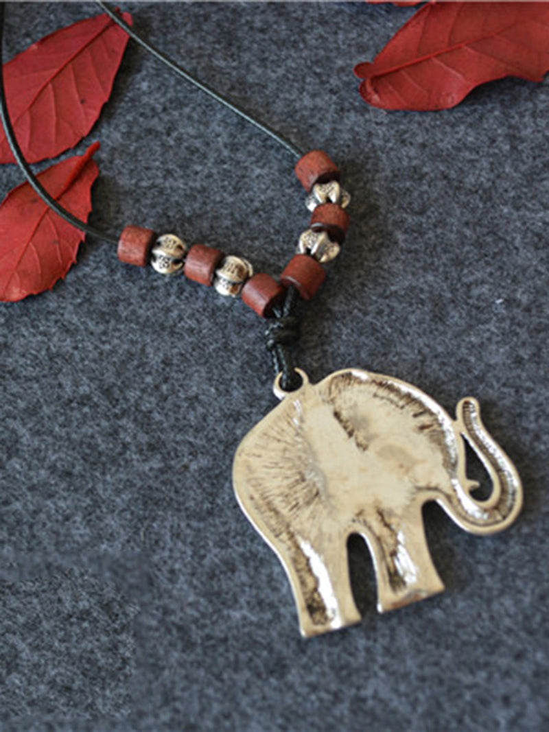 Elephant Bead Fashion Necklace