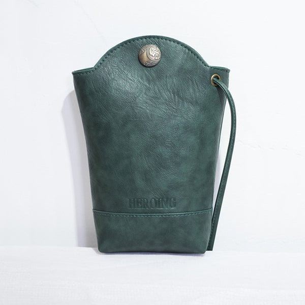 Embossed Casual Snap Handbag