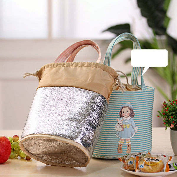 Green Drawstring Canvas Handbag