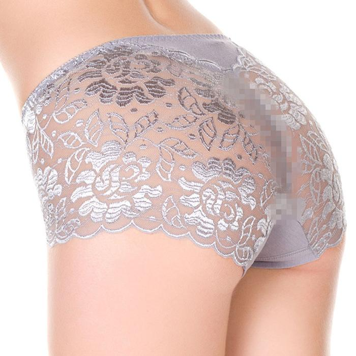 Sexy Lace Printed Plus Size Soft Panties For Women