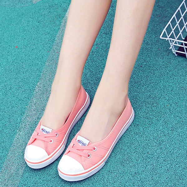 Casual Spring/Fall Flat Heel Lace-up Canvas Comfortable Loafers