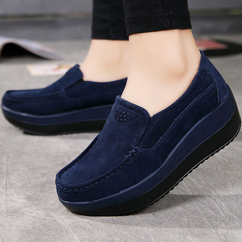 Women Suede Platform Fashion Sneakers