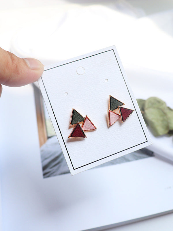Multicolor Geometry Alloy Earring