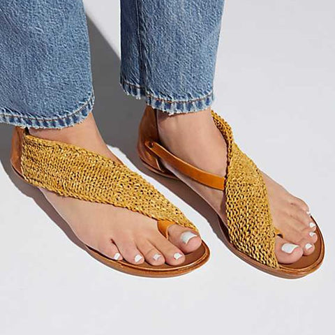Women Knitted Fabric Sandals Casual Zipper Shoes