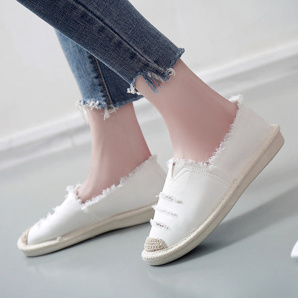 Women Canvas Casual Comfort Flat Loafers