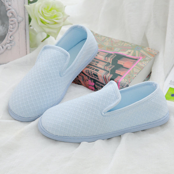 Cotton Round Toe Flat Heel Casual Ankle Shoes
