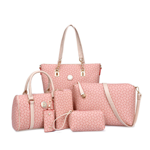 Pink Casual Zipper Handbag