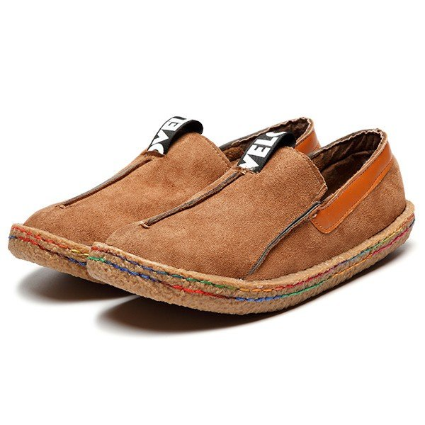 Suede Solid Slip-On Casual Flat Soft Shoes