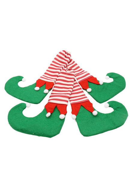 4Pcs/Set Christmas Elf Santa Chair Table Leg Covers Christmas Table Decoration